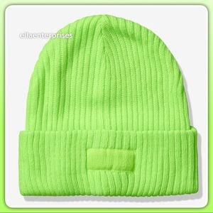 VS Pink Kiwi Neon Green Beanie Hat